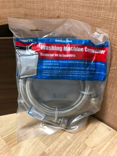 Watts Stainless Steel Washing Machine Connector, Single Hose | Model W48