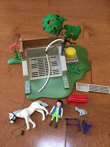 Playmobil, douche du cheval