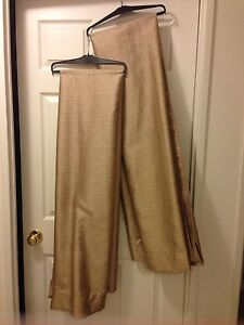 Two pocket panel curtains $15