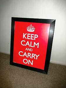 Keep Calm and Carry On Framed Picture Pearce Woden Valley Preview