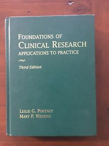 Foundations of Clinical Research Applications to Practice