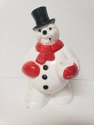 Vintage Royalite Hard Plastic Light Up Snowman