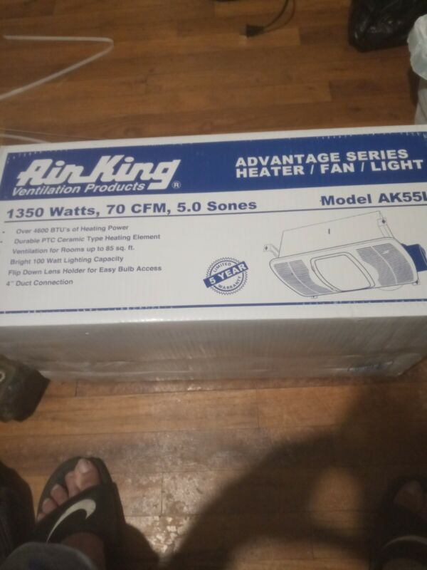 Air King AK55L Ventilation Exhaust Fan 1350 watts Never opened