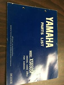 Yamaha XS 650 parts manual