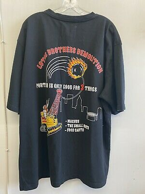 Warren Lotas Black Lotas Brothers Demolition Graphic Pocket Tee Cotton Size S/M