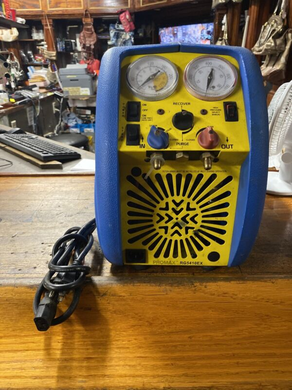 Promax Model RG5410EX Refrigerant Recovery Machine with power cord