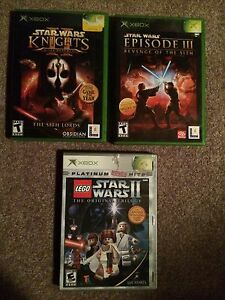 Original XBOX  Star Wars Game Lot