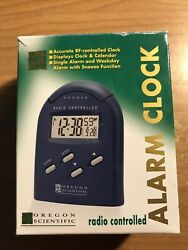 Oregon Scientific Radio Controlled Alarm Clock Model RM982A