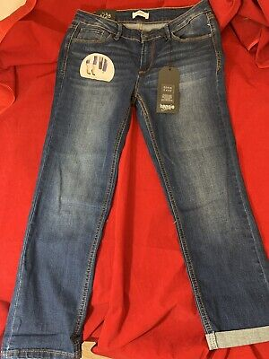 """BNWT KENSIE Women's Skinny Fit Wear Me Up/Down/Out Blue Crop Jeans W28"""" L24"""""""