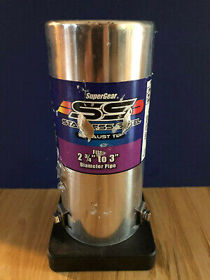 Exhaust Tip SuperGear SS Series Stainless Steel Round Rolled Edge