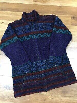 Vintage HELLY HANSEN Mens sz L Deep Pile Fleece Jacket Winter Layer Made In USA