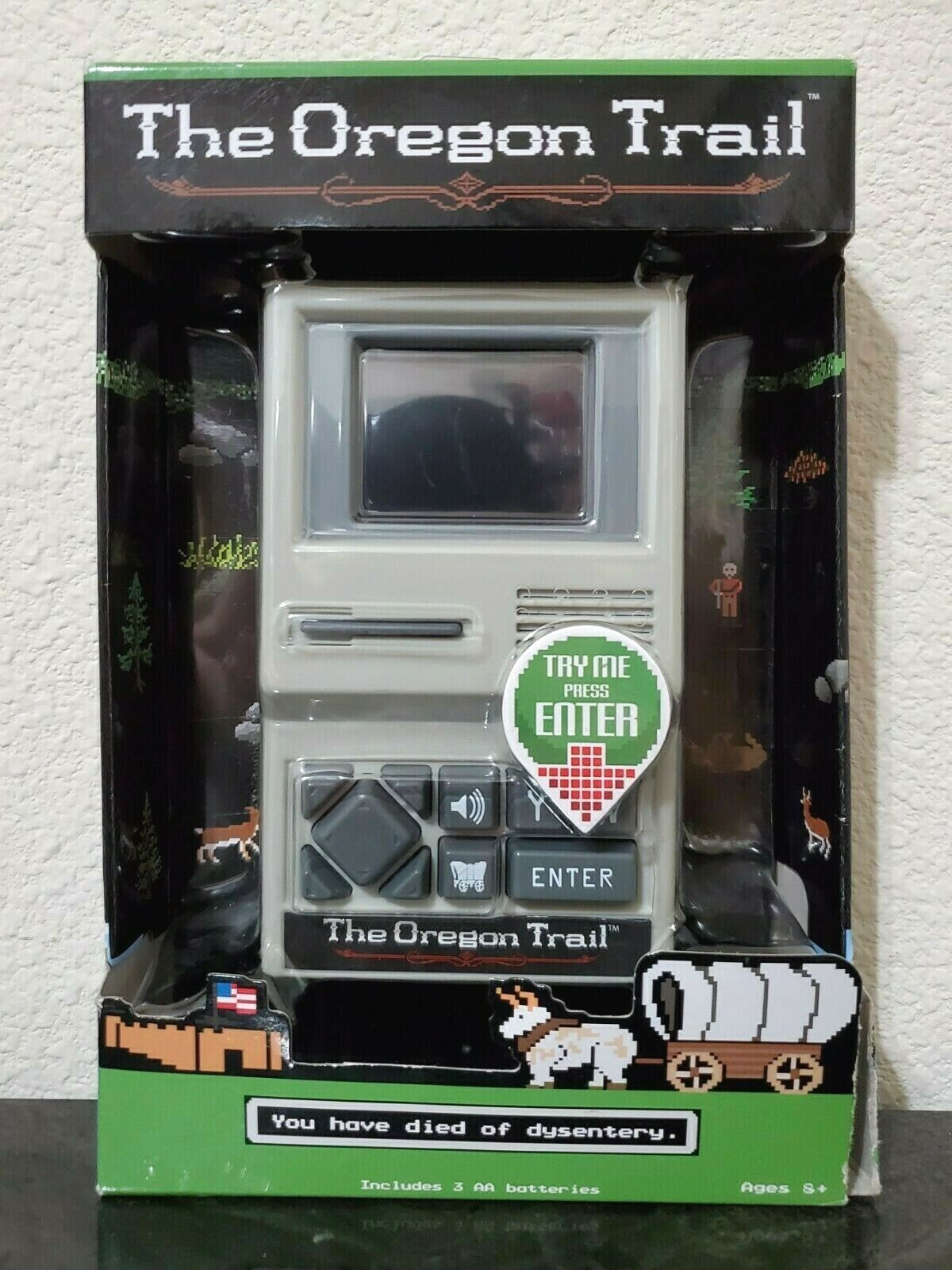 Computer Games - The Oregon Trail The Classic Computer Video Game Electronic Handheld (Box Damage