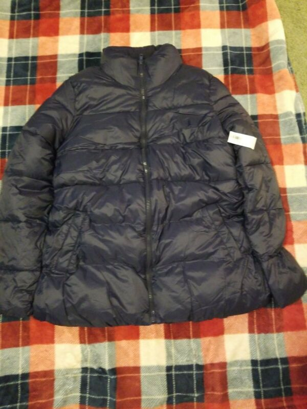 Nwt Womens Old Navy Maternity Blue Puffer Jacket Size S