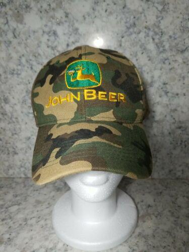 Men s John Beer Hat Camouflage Adjustable Baseball Cap Hat FUNNY GAG  - $12.99