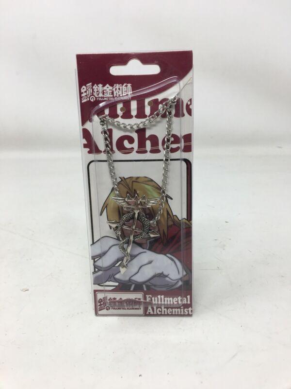 Fullmetal Alchemist Edward Elric Metal Necklace Cross Snake Pendant Cosplay Prop