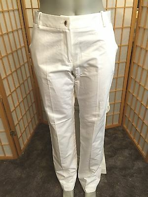 LACOSTE White Cotton Low Rise Casual Dress Pants Womens Size 40 US 8 for sale  Shipping to India