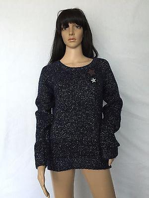 NWT $210 Maison Scotch Star Wool Sweater Cardigan Jumper Sz 4 US XL 16-18