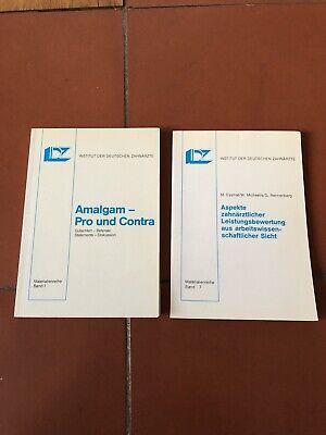 2 Bücher Amalgam Pro & Contra IDZ Aspekte Zahnmedizin Medizin Dental Composite