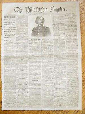 IRISH BRIGADE CIVIL WAR COLONEL JAMES MULLIGAN ILLUS NEWS 1861