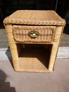 Cane bedside table. Very good condition.