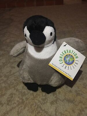Emperor Penguin Plush Stuffed Toy 7in. Conservation Critters