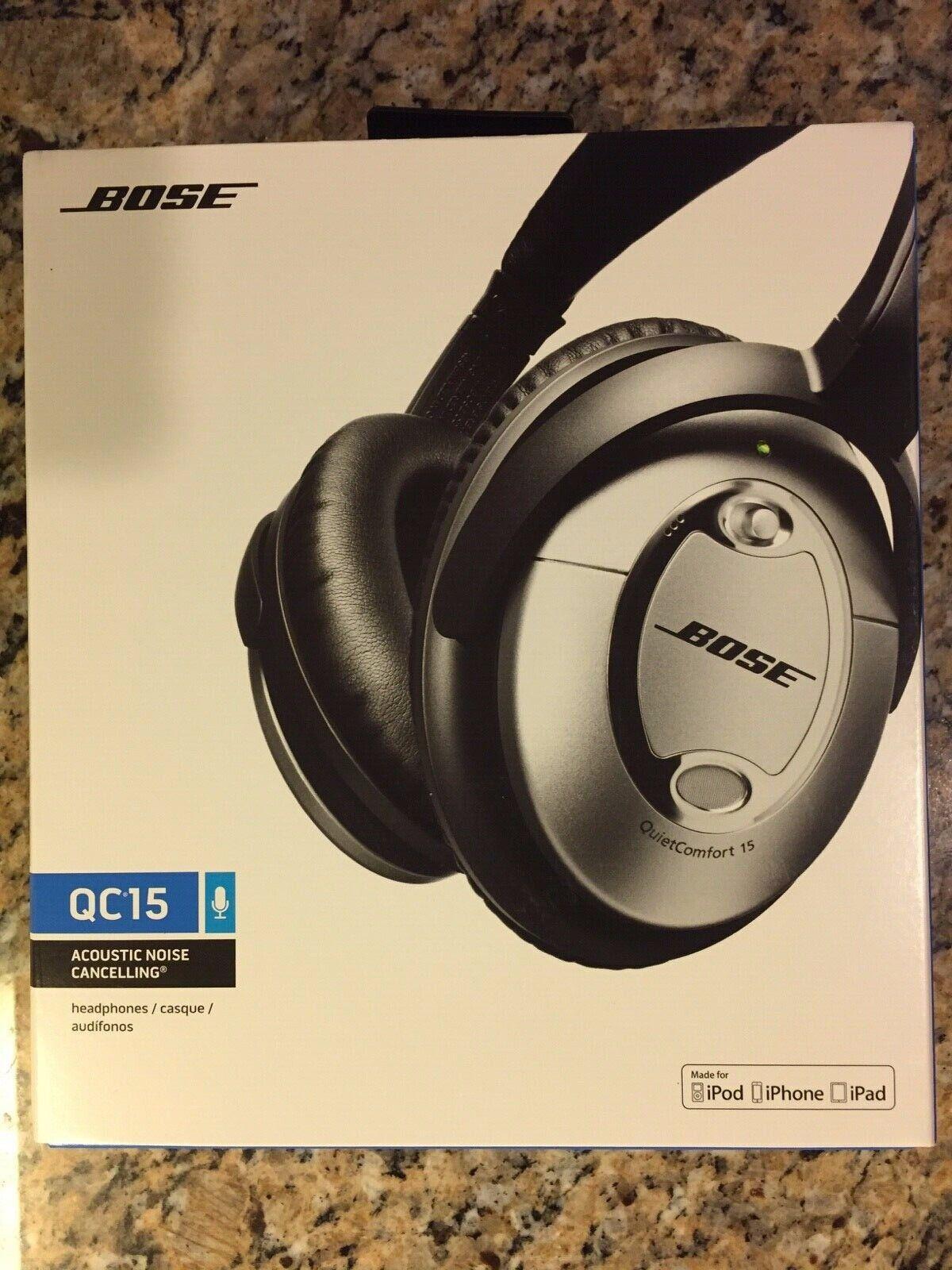 Bose QuietComfort 15 Acoustic Noise Cancelling headphones Silver