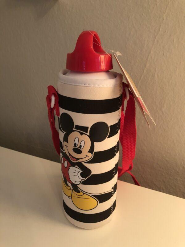 Disney Store Mickey Mouse Aluminum Water Bottle With Neoprene Holder