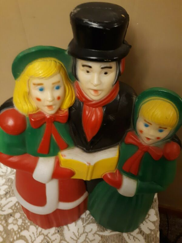 Vintage Christmas carolers Empire Blow Mold