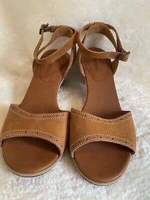 "Timberland Earthkeepers Brown 2.5"" Block Heel Slingback Sandals Size 7.5"