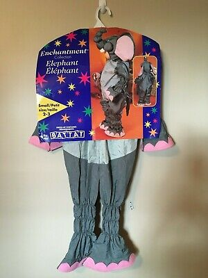 Vtg Battat Toddlers Elephant Costume Size 2-3 Small Dress Up Halloween Party
