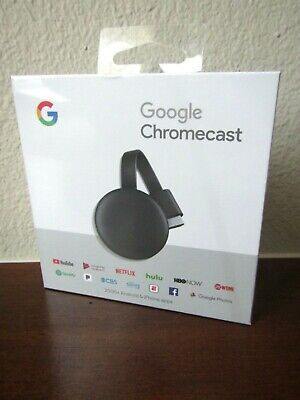 NEW SEALED GOOGLE CHROMECAST HD 1080P HDMI MEDIA STREAMING DEVICE HOME TV