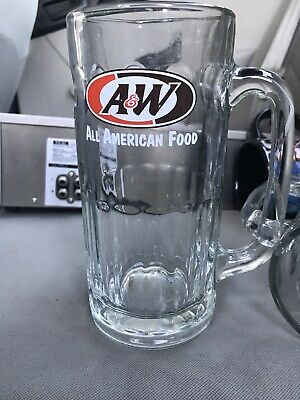 "Vintage AW A & W ROOT BEER GLASS MUG 7"" tall"