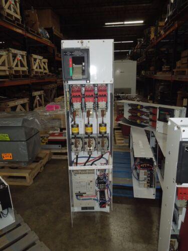 Cutler Hammer F-2100 Series 150hp 480V Soft Starter Fused MCC Bucket w/Door Used
