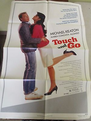 Vintage 1 sheet 27x41 Movie Poster Touch and Go 1986 Michael Keaton