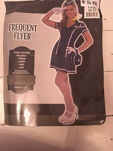 """Frequent flyer"" Airline attendant costume"