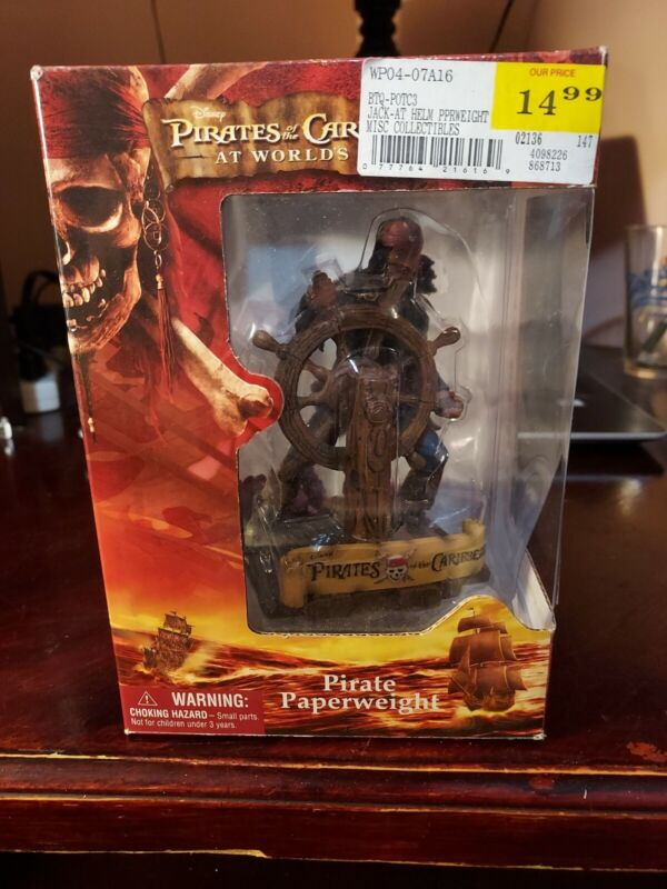 PIRATES OF THE CARIBBEAN At Worlds End Jack Sparrow Pirate Paperweight