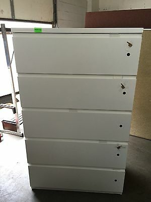 5dr 36w Lateral Sz File Cabinet By Haworth Office Furn W5 Different Lockskeys