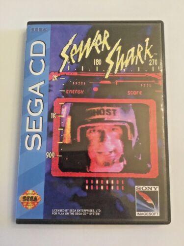 Replacement Case (NO GAME!) Sewer Shark - Sega CD