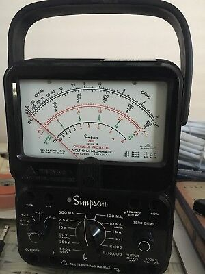 Vintage Simpson 260 Series 7 Milliammeter Volt Ohm