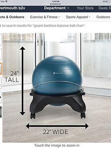 Balance yoga ball chair