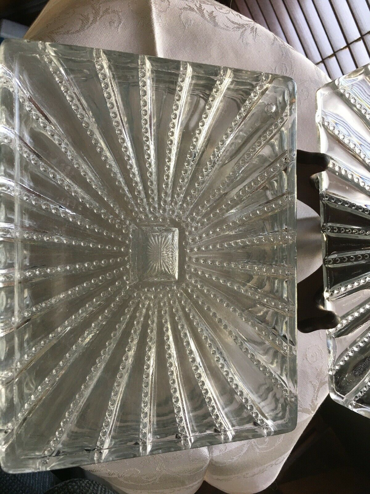 Rare Antique Cut Glass Crystal Sandwich/Luncheon Plates-Set Of 6- - $199.99