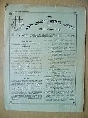 1923 Athletics Magazine-SOUTH LONDON HARRIERS GAZETTE & CHRONICLE-No10,Vol.XXXIX