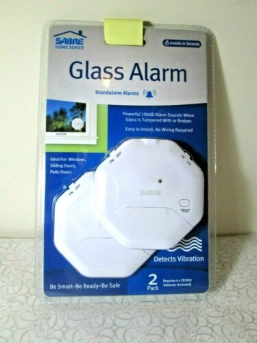 SABRE Window Glass Alarms (2-Pack) White HS-GA2
