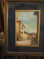 Quadro Dipinto Su Tavola Paesaggio -  - ebay.it