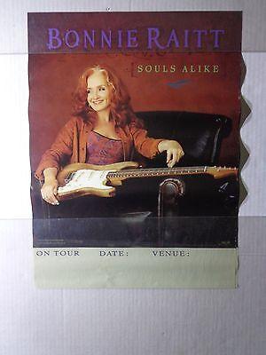 """X     BONNIE RAITT-SOULS ALIKE  promo poster-vintage  15 X 20 """"@ CONCERT DATE"""