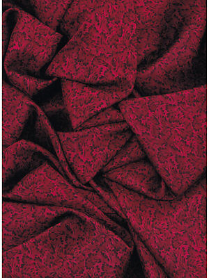 Calico #6 Red & Black Western Cowboy Silk Wild Rag Bandana Buckaroo Scarf