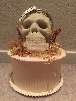 Wendy Addison Halloween Skull Round Decorative Box