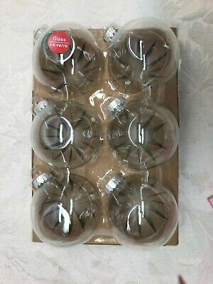 Clear Craft Glass Christmas Round Ornament  Pack of 6 Clear Glass Ornament Craft