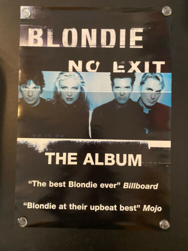 BLONDIE No Exit promo rolled poster Debbie Harry 1999