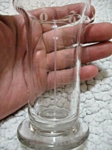 ANTIQUE WHITALL TATUM &  CO. GLASS BEAKER HAND ETCHED NUMBERS RARE & HTF!!